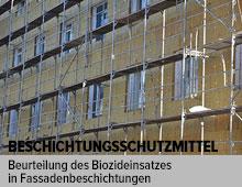 Studie – Entscheidungshilfe zur Beurteilung des Biozideinsatzes in Fassadenbeschichtungen