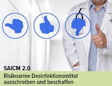 Anwendung von Desinfektionsmitteln im Gesundheitswesen